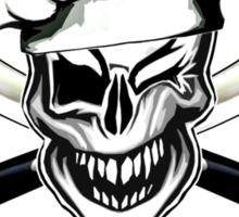 Chef Skull 7: Culinary Genius 3 white flames Sticker