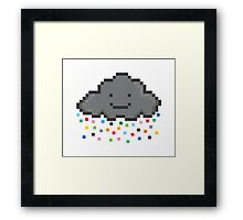 Your Friendly Pixel Cloud Sprinkling pixels for you and me Framed Print