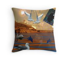 Surreal light-house Throw Pillow