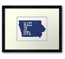 Made in Iowa Framed Print