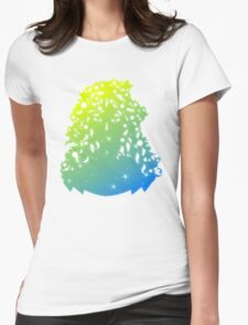 Summer girl illustration Womens Fitted T-Shirt