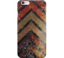 Aged Chevron Earthy Colors iPhone Case/Skin