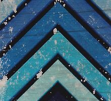 Aged Chevron Cool Blue by VinTroNiscent