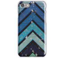 Aged Chevron Cool Blue iPhone Case/Skin