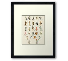 ABC Animals Alphabet Poster Framed Print