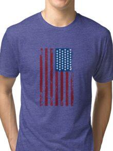 Hops and Stripes U.S. Flag Tri-blend T-Shirt