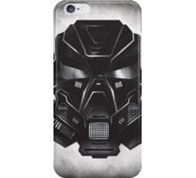 Black Metal Future Fighter on distressed background iPhone Case/Skin
