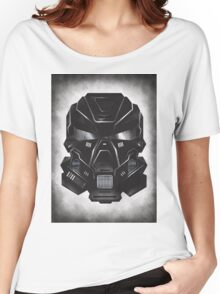 Black Metal Future Fighter on distressed background Women's Relaxed Fit T-Shirt