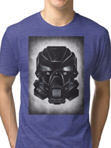 Black Metal Future Fighter on distressed background Tri-blend T-Shirt