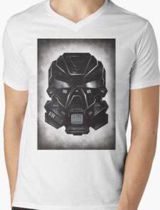 Black Metal Future Fighter on distressed background Mens V-Neck T-Shirt