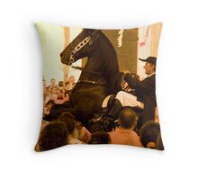 the rider Throw Pillow