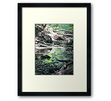 nature's avalanche Framed Print