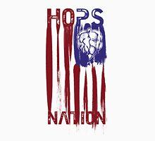 Hops Nation! Hops and Stripes U.S. flag grunge style Unisex T-Shirt