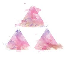 Watercolour Triforce- Pink by warriordork