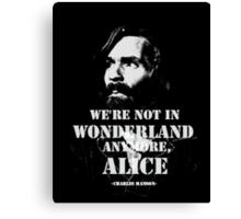 Charles Manson - Wonderland Canvas Print