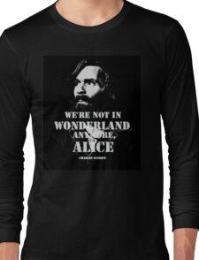 Charles Manson - Wonderland Long Sleeve T-Shirt