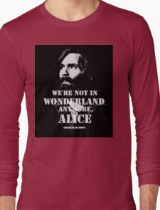 Charles Manson - Wonderland Long Sleeve T-Shirt