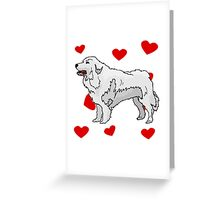 Great Pyrenees Love Greeting Card