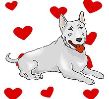 Bull Terrier Love by kwg2200