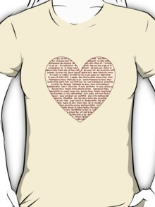 I Love You All Over My Heart T-Shirt