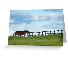 Grass Is Greener Greeting Card