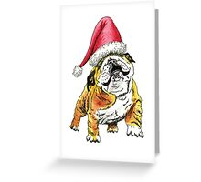 Christmas Bulldog Greeting Card