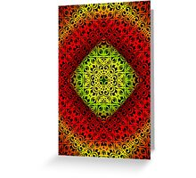 Floral abstract background Greeting Card