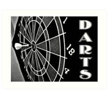 Dart Board Art Print