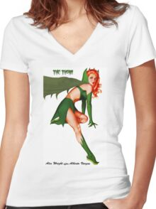Golden-Age Thorn Women's Fitted V-Neck T-Shirt