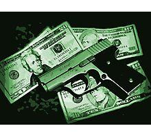 Guns and Money Photographic Print