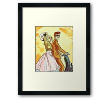 Rose and Tennant - 50's Style Doctor Who Framed Print