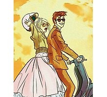 Rose and Tennant - 50's Style Doctor Who Photographic Print