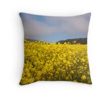 Yellow Field 01 Throw Pillow