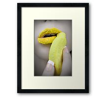 Yellow Stimulates the Appetite Framed Print