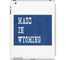 Made in Wyoming iPad Case/Skin