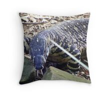 Common Goanna (Varanus varius) Throw Pillow