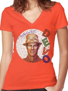 Devo - Q: Are We Not Men? A: We Are Devo! Women's Fitted V-Neck T-Shirt