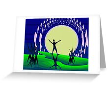 Greet the Moon Greeting Card