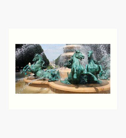 La Fontaine de Carpeau Art Print