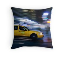 NYC Taxi 1W91 Throw Pillow