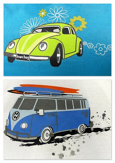 Love bug & camper van  by ©The Creative  Minds