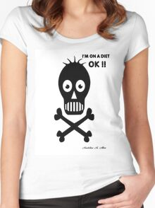 ON A DIET Women's Fitted Scoop T-Shirt