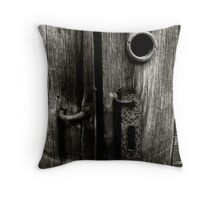 Rusted Lock Throw Pillow