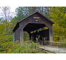 Pine Brook Covered Bridge Photographic Print