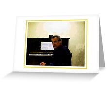 Au Piano Greeting Card
