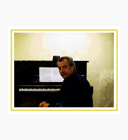 Au Piano Photographic Print