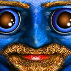 The Blue Man Stares by GolemAura