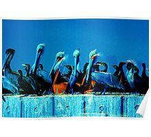 pelican abstract Poster