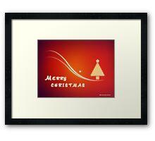 Christmas Greeting Card Design - Merry Xmas Framed Print