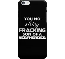 Intergalactic Trash Talk (White) iPhone Case/Skin